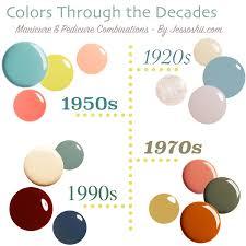 nail polish picks colors through the decades jessoshii