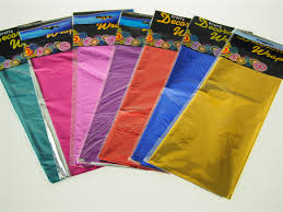 foil gift wrap foil tissue paper sheet shiny gift wrap bags solid 4 pack