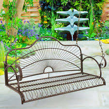 outdoor patio swing hanging 2 person furniture porch seat bench