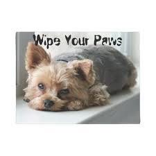 Buy Wipe Your Paws Door Wipe Your Paws Yorkie Doormat Zazzle Com
