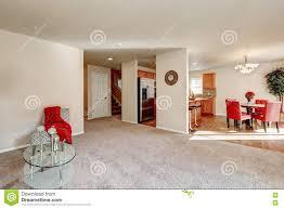 typical american open floor plan interior design stock photo