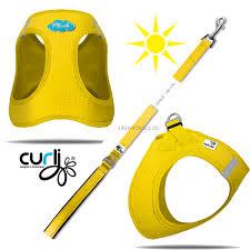 my curli fashydogs hundeshop curli plush vest air mesh hundegeschirr yellow