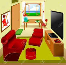 Livingroom Cartoon 3 160 Living Room Tv Stock Vector Illustration And Royalty Free