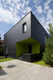 Cube House Floor Plans Black Cube House In Poland Tailored For A Modern Family Life