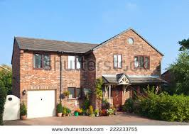 House With Garage Red Brick House Stock Photo 128099234 Shutterstock