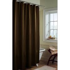Brown Floral Shower Curtain Canopy Microfiber Fabric Shower Curtain Liner Chocolate Nib