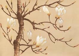 Magnolia Wallpaper by Magnolia 20th Century Handmade Wallpaper Fromental