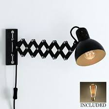 buy scissor extention accordion wall lamp antiqued patina