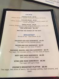 The Patio Orland Park Menu by Friend U0027s Bar And Grill Bridgeton Menu Prices U0026 Restaurant
