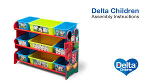 toy organizer delta children 9 bin toy organizer assembly video youtube