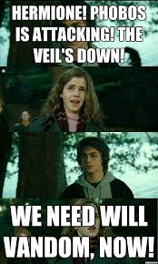 Horney Meme - horny harry hermione phobos is attacking the veil s down we