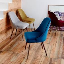 MidCentury Upholstered Dining Chair Velvet West Elm - Upholstered chairs for dining room