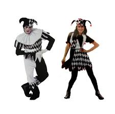 halloween couple love cosplay clothes clown men women