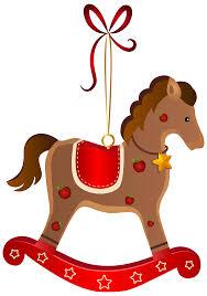 rocking horse christmas ornament transparent png clip art image
