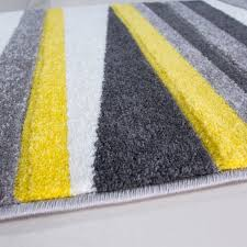 Yellow Runner Rug Modern Yellow Grey Striped Runner Rug Kukoon