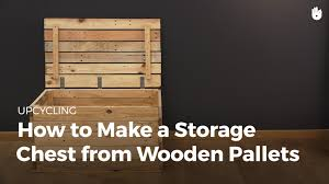make a storage trunk from wooden pallets upcycling youtube