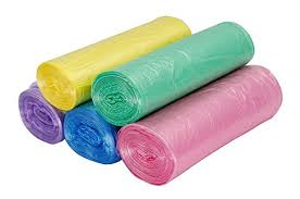 GLRSBUTY Trash Bags  Gallon Garbage Bags Colorful Bathroom Trash - Bathroom trash bags