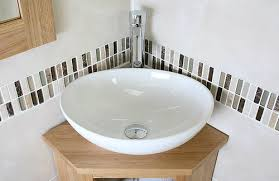 Cloakroom Corner Vanity Unit Corner Bathroom Cabinet Small Oak Cloakroom Vanity Unit Basin Bowl
