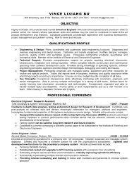 resume objective examples engineering sample graduate resume