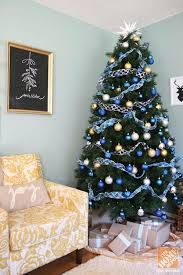 Blue And Gold Home Decor Christmas Tree With Blue And Gold Decorations Awesome Christmas