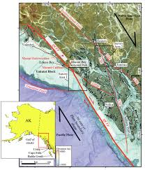 United States Fault Lines Map by Earthquake Report Denali Fault British Columbia Jay Patton Online