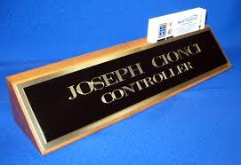 Black Business Card Holder Walnut Desk Name Plate With Business Card Holder And Black Brass