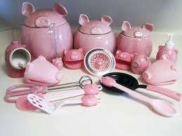 pink kitchen canister set workout then cook my piggy obsession