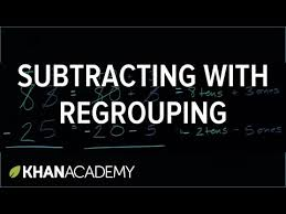 subtracting with regrouping borrowing video khan academy