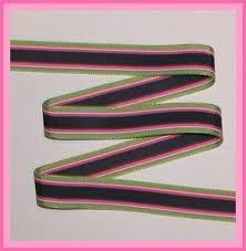 striped grosgrain ribbon multi colored stripes grosgrain ribbon navy blue hot pink lime
