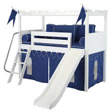 Walmart Loft Bed With Slide White Camelot Castle Low Loft Bed With Slide By Maxtrix Kids 395