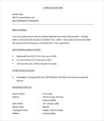 curriculum vitae sles for freshers pdf to word bpo resume template 22 free sles exles format download