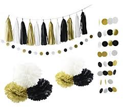 Happy New Year Decorations furuix new years eve decorations black white gold birthday party