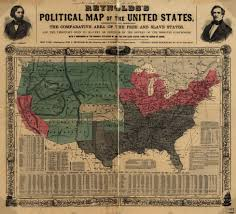 The Map Of United States by Reynolds U0027s Political Map Of The United States Civil War On The
