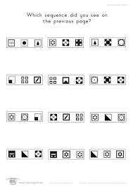 Visual Discrimination Worksheets Sequential Memory Individual File Download