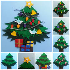 celebrate christmas all around the christmas tree felt board