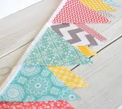 bunting fabric banner fabric flags nursery decor garland