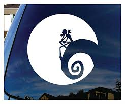 christmas jeep silhouette amazon com jack nightmare before christmas moon car window vinyl