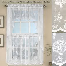Rooster Lace Curtains by Kitchen Curtains U0026 Window Treatments Touch Of Class