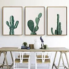 cactus home decor amazon com stylish cactus canvas print wall art poster home