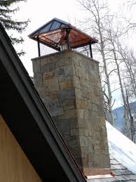 Flashing Patio Door by Stone Chimney With Custom Copper Cap And Copper Flashing Which