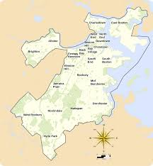Map Of Boston Harbor by Neighborhoods In Boston Wikipedia