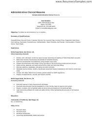 clerical resume exle administrative clerk resume clerical