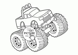 large monster truck coloring page for kids transportation