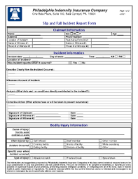 slip and fall incident report sample fill online printable