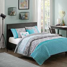 Gray Twin Xl Comforter Twin Twin Xl Size Aqua Geometric Blue Gray Coverlet Set
