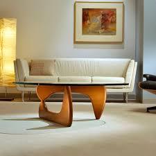 contemporary coffee table walnut ash wood veneer noguchi