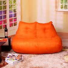 free shipping orange love seat beanbag chair modern love seat