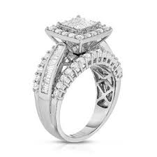 engagement rings sears tradition 2 cttw 14k square engagement ring sears