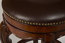 Swivel Bar Stool Burrell Swivel Bar Stool Brown Cherry U0026 Leather Finish 5170