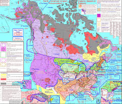 Northern Canada Map by Map Charts English Dialects In Us And Canada